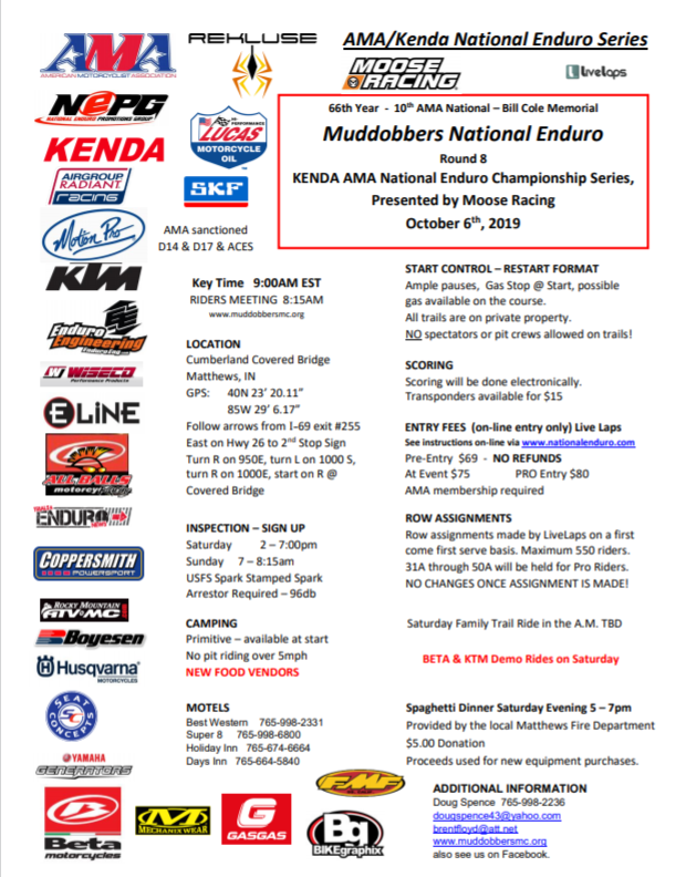 2019National Enduro Flyer